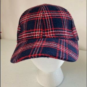 Flannel Striped Baseball Hat
